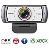120 Degree Wide Angle Webcam, Full HD 1080P Live Streaming Web Camera with Dual Microphones, Large View Video Conference Camera, USB Webcam for Mac, PC, Laptop and Desktop