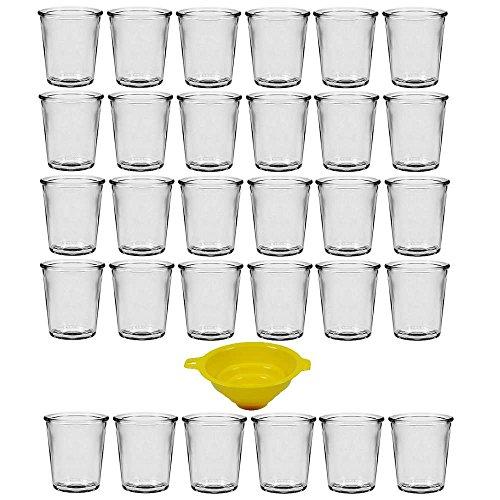 Viva Haushaltswaren #32251# 30 x kleines Dessertglas 65 ml, Mini Glasgefäße für Desserts, Vorspeisen, als Teelichthalter geeignet (inkl. Trichter Ø 5 cm)