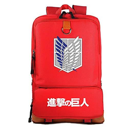 Zaino di Attack on Titan, Alta Capacita Zaino Scuola con Logo della Legione Esplorativa Unisex Casuale Viaggio Zaini Laptop da 17 Pollici Borsa Anime Cosplay Attacco dei Giganti Zaino (R1)