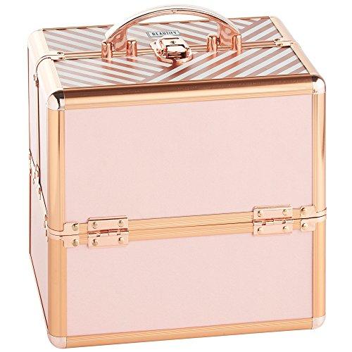 Beautify Mallette Maquillage/Onglerie/Esthétique Professionnelle Verrouillable - Rose Blush