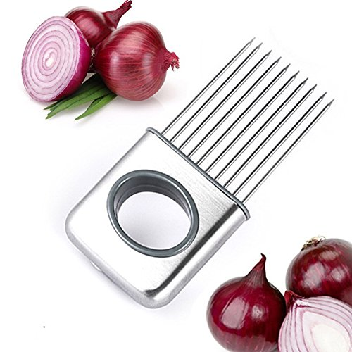 TOTOONE Best Onion Holder Tomato Slicer Meat Tenderizer Stainless Steel Lemon Holder Kitchen Gadgets Vegetable Tools Kitchen Accessories HJGF