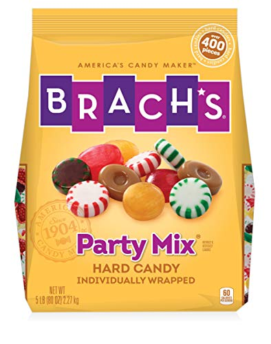 Brach#039s Party Mix Individually Wrapped Hard Candies Variety Pack 5 Pound Bulk Candy Bag