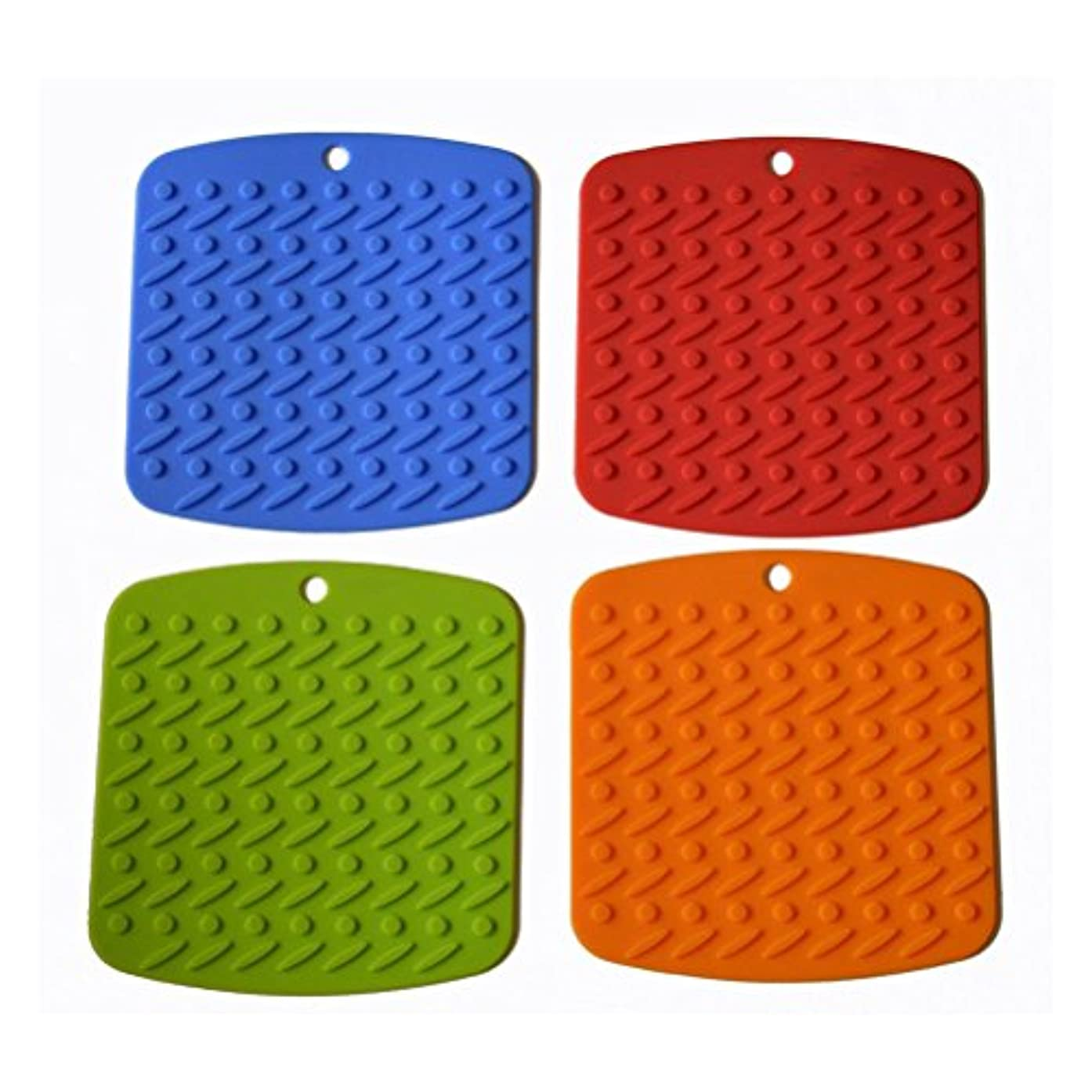 NUOLUX Household Silicone Trivets Pot Holder Coaster Placemat Hot Pad-4 Colors