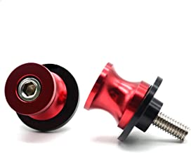 2pac M6 Motorcycle Universal Swing armSliders Spools CNC Swing Arm Stand Screw For Yamaha YZFR1/R6/R125/R6S/R25/R3/600R/ Aprilia RSV MILLE (S/R) RSV4 R Tuono and More (red)