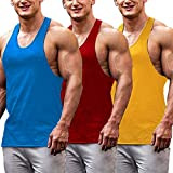 COOFANDY Men's 3 Pack Workout Tank Top Muscle Gym Sleeveless Shirts Bodybuilding Fitness T Shirts