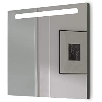 Espejo baño con Luz SHINE 100x70cm.6W Espejo de alta calidad. Led 864Lumenes, 6 w 5700kluz brillante, potente y moderna. [Clase de eficiencia energética A++]. IP44.: Amazon.es: Bricolaje y herramientas