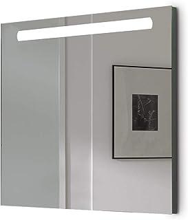 Espejo baño con Luz SHINE 80x70cm 6 W Led 864Lumenes, 6 w 5700kluz brillante, potente y moderna, perfecto para el baño. [C...