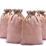 DAHI 12 sacchetti regalo in iuta, 20 x 30 cm, sacchetto in iuta