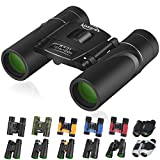 Kissarex Adults Compact Travel Binoculars: 8x21&10x25&10x42&12x50 Mini Small Size Lightweight Best Outdoor Theatre Tactical Hiking Kids Concert Sports Camping Low-Light Night Vision Waterproof
