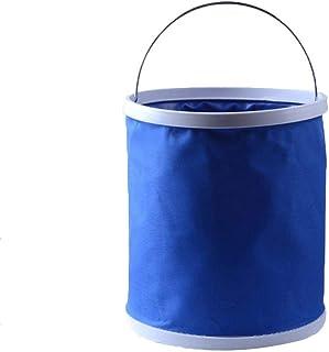Cubo Plegable de 11 litros, Multifuncional, Plegable, de Silicona, Plegable, Ideal para Camping, Lavado de Coches, Exteriores, Pesca y Cocina
