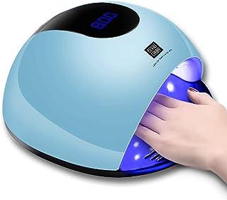 80W lámpara LED de alta potencia para uñas, sensor de belleza de secado rápido y luz UV Gel recargable secador de uñas, regalo de niña (Blue)