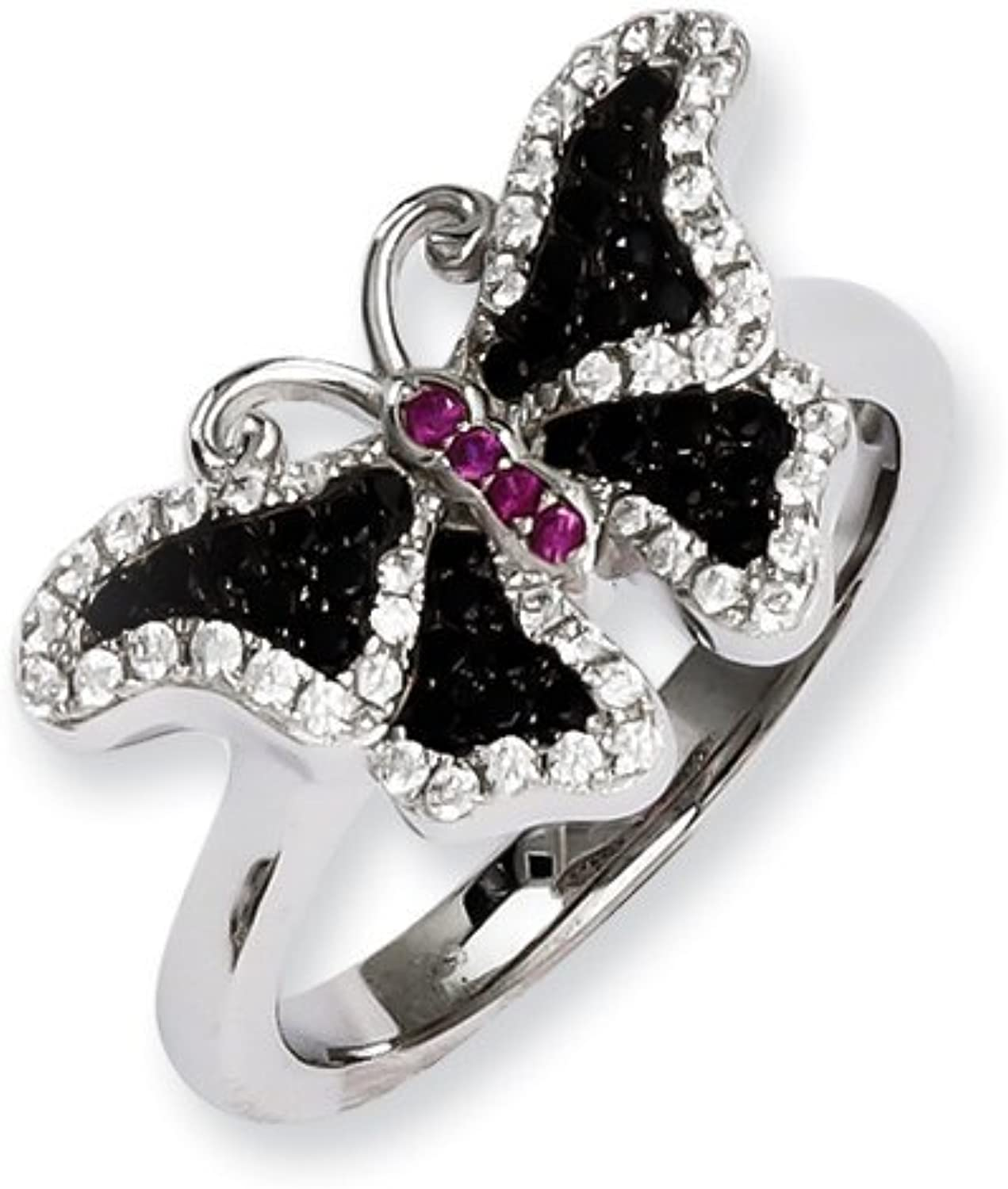 Brilliant Embers Sterling Silver & CZ Brilliant Embers Butterfly Ring