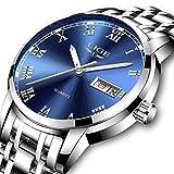 LIGE Herren Uhr Sport Wasserdicht Edelstahl Analog Quarz Uhr-männer Business Date Armbanduhr