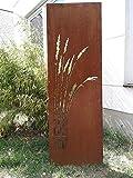 Zen Man Edelrost Garten Sichtschutz aus Metall Rost Gartenzaun Gartendeko Edelrost Sichtschutzwand B50*H180cm 031912-3