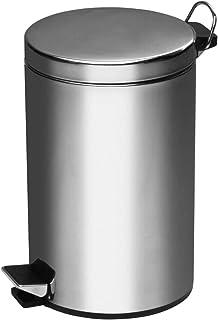 Premier Housewares Pedal Bin Silver Kitchen Bin Stainless Steel Bathroom Bin Pedal Push Kitchen Bins Recycling Bins 5 L