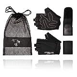 Lioness Luxe 2 in 1 Fitness Handschuhe © - Profi Trainingshandschuhe mit Abnehmbarer Handgelenkstütze - inkl. Aufbewahrungstasche und kostenlosem Fitness