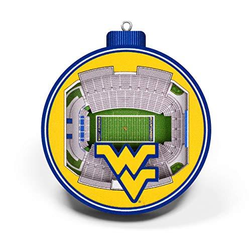 YouTheFan NCAA West Virginia Mountaineers 3D StadiumView Ornament - Milan Puskar Stadium