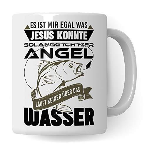Pagma Druck Tasse Angler, Angeln Geschenk Deko, Fischer Becher Angel Fischerei Spruch Kaffeetasse, Angler Geschenke für Männer Kaffeebecher, Angelrute Fisch Motiv