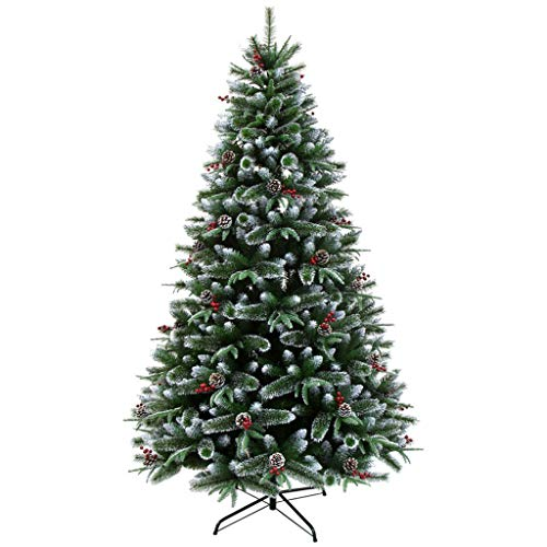 GJXJY Artificial Christmas Tree with Stand Ornaments, Christmas Decorations, Indoor and Outdoor Decoration Christmas Tree with Pine Cone Snowflake,Easy Assembly180cm/6ft