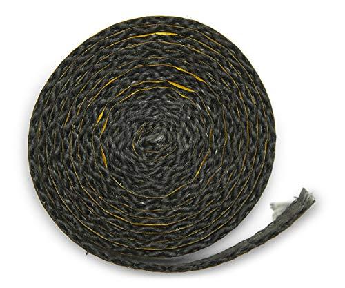 Junta para chimenea, 2 m, 10 x 2 mm de diámetro, junta de labio, autoadhesiva, para juntas de discos. Apto para diferentes modelos de chimenea Oranier.