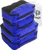 Bago 4 Set Packing Cubes for Travel - Luggage & Suitcase Organizer - Cube Set (2Large+2Medium, DeepBlue)