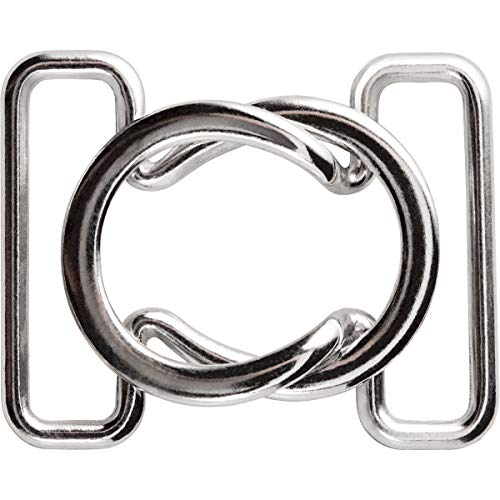 PRYM 25mm Bikini und Gürtel Schließe Loop, Metall silber