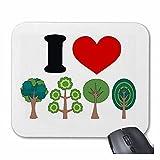Mousepad alfombrilla de ratón Yo árboles de amor Yo árboles de amor MEDIO NATURAL AMBIENTE hoja del árbol de abeto abeto para su portátil, ordenador portátil o PC de Internet (con Windows Linux, etc.
