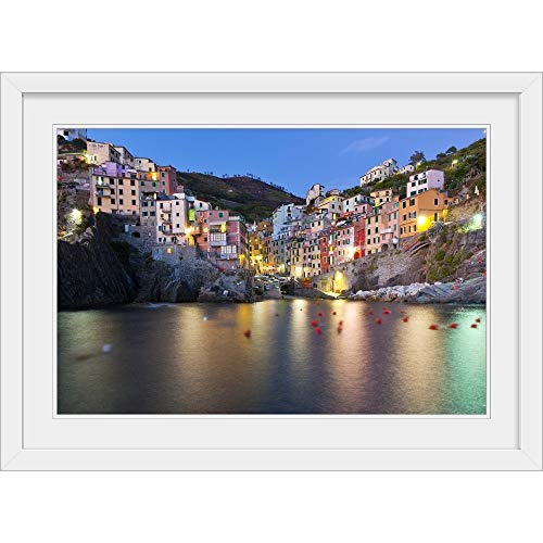 GREATBIGCANVAS Riomaggiore, Cinque Terre National Park, Province of La Spezia, Liguria, Italy, Europe. White F.