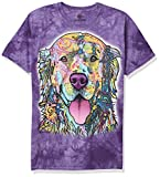 The Mountain Russo Golden Retriever Adult T-Shirt, Purple, Medium