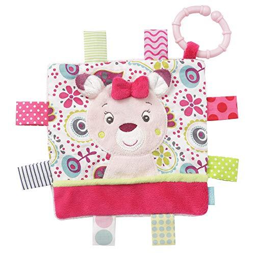FEHN 076974 Knistertuch Rehkitz mit Ring / Activity-Rascheltuch zum Aufhängen mit spannenden Strukturen zum Greifen & Geräusche erzeugen – für Babys und Kleinkinder ab 0+ Monaten