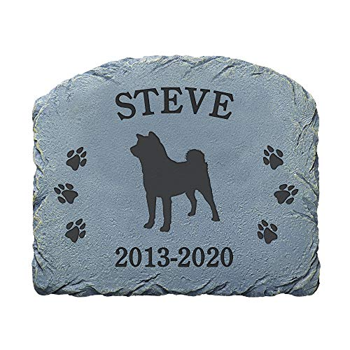 """Let's Make Memories Personalized Memorial Garden Stone - Memorial - Resin - Dog Memorial - Choose Your Breed - Sympathy Garden Stone - Engraved with Your Pet's Name - 9 1/2""""L x 11 1/2""""W x 1/2""""D"""