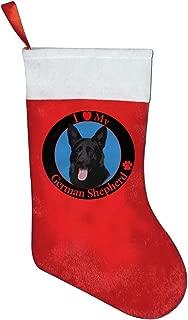 FQWEDY Love My German Shepherd Christmas Stockings Santa Claus Gift Bag Holiday Xmas Decorations Party Ornaments