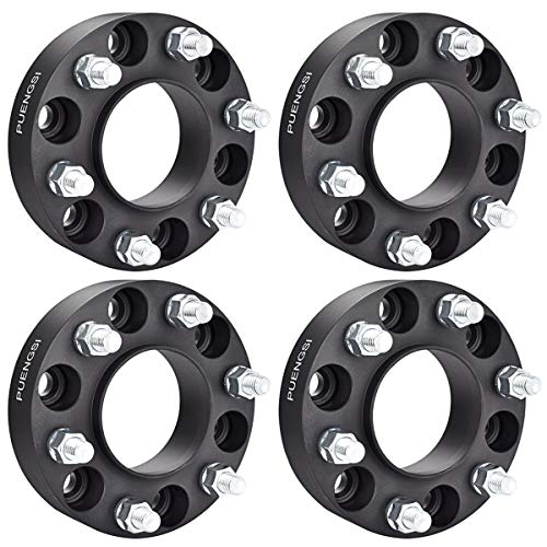 PUENGSI Wheel Spacer Fits for Fo-rd F-150 Raptor Expedition 6x135 to 6x135mm Black 1.5'(38mm) 4PCS 87mm Hub Centric Wheel Spacers with 14X2 Studs