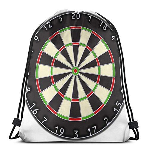 Dartscheibe, Pfeile, Pfeile, Ziel, Bullauge, Kneipe, Spiel, auf weißer Kordelzug-Sport-Fitn-Tasche Reisetasche-Geschenktüte