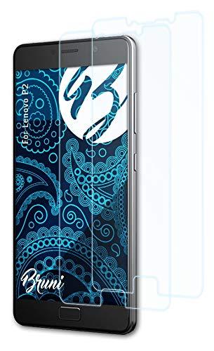Bruni Schutzfolie kompatibel mit Lenovo P2 Folie, glasklare Bildschirmschutzfolie (2X)
