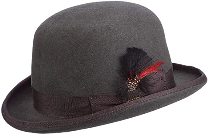 Steampunk Accessories | Goggles, Gears, Glasses, Guns, Mask Scala Mens Wool Felt Derby Hat  AT vintagedancer.com