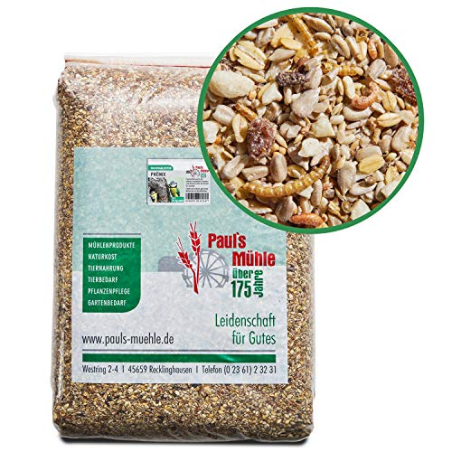 Paul´s Mühle Wildvogelfutter, Vogelfutter ideal für Brutzeit und Aufzucht, Phönix, 25 kg