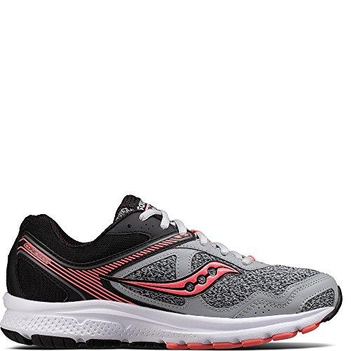Saucony Women's Cohesion 10 Running Shoe, Grey Coral, 8 Medium US