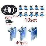TIGERROSA Sistema De Riego Kit Sistema De Goteo 8L Arrow Sistema De Riego por Goteo De 4 Vías Micro Gotero De Flujo Plantas En Macetas con Invernadero 10Set 20Set-10 Set