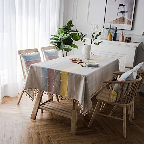 YCZZ Kleine verse Scandinavische salontafel tafelkleed, omzoomd anti-scalding tafelkleed tafelkleed