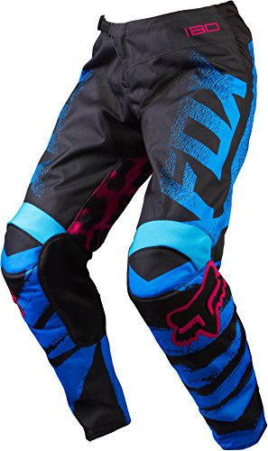 Fox Racing 180 Youth Girls Off-Road Motorcycle Pants - Blue/Red/X-Small