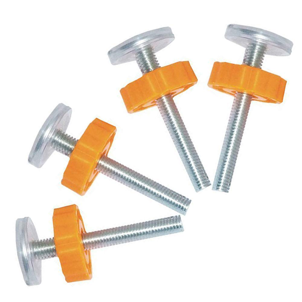 Bestgle 4 Pcs M10 Pressure Mounted Baby Gates Threaded Spindle Rods, 10MM Walk Thru Gates Accessory Screw Bolts Kit, Fit for Pressure Walk Through Baby Safty Gates