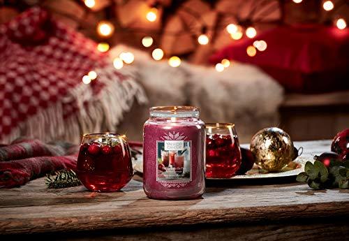 Yankee Candle Candela profumata in giara grande, Gin Fizz al melograno, collezione Natale in montagna, durata: fino a 150 ore