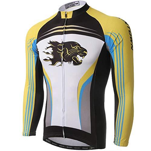 Yu$iOne Fahrradbekleidung Herbst, Hygroskopisch Und SchweißFreisetzende Langarmbluse FüR MäNner Sportbekleidung,06,L