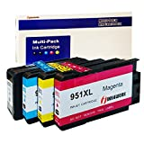 INK4WORK 4 Pack Replacement for HP 950XL 951XL Ink Cartridge Fits HP Officejet PRO 8100 8600 8610 8620 8630 8640 8660 8615 8625 251dw 276dw