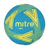 Mitre Impel - Balón de fútbol sin Bola, Color Azul Cielo/Amarillo Fluorescente, Talla 5