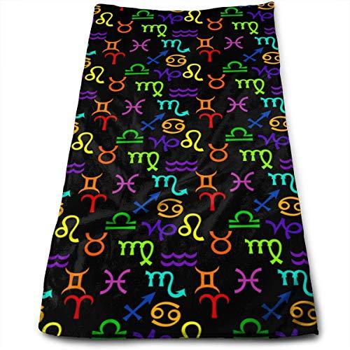Liumt Gesichtstuch Raibow Buntes Sternzeichen Symbol Handtücher Strandwaschlappen Schnelltrocknendes Handtuch