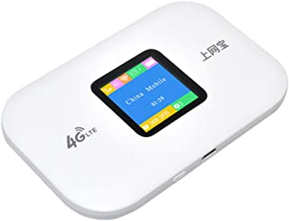 LEDMOMO Mobile WiFi, 4G 150Mbps Wireless Mobile WiFi Hotspot with Color Display Screen