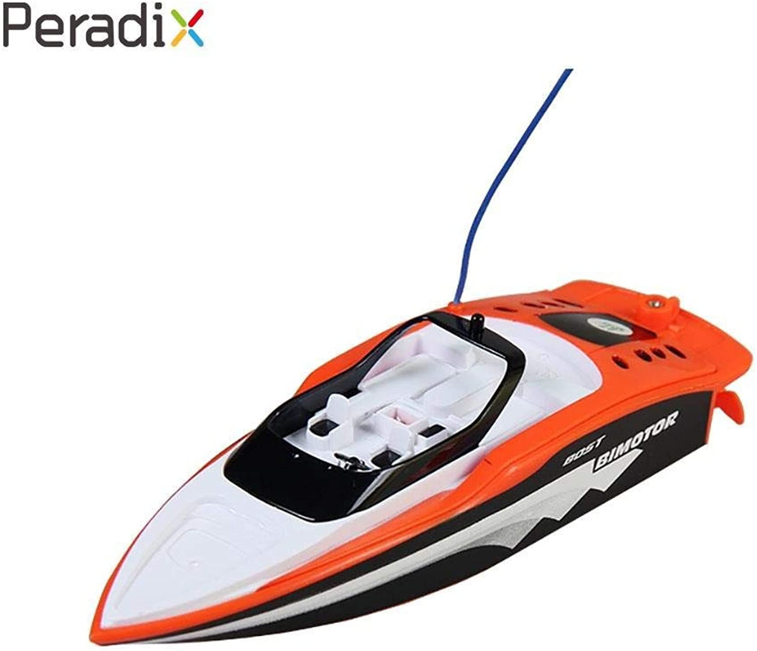 Generic Speedboat Micro RC Boat Kids Fish Finder Create Toys Motor Submarin RC Ship orange