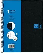 "Miquelrius Single Subject Spiral Notebook, Graph/Quad Pages, Blue, 80 Sheets (8.5"" x 11"")"